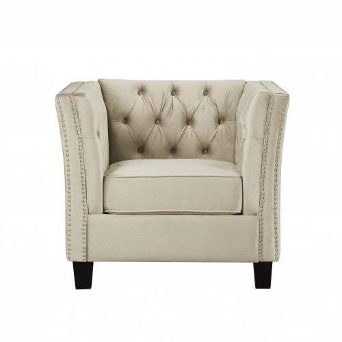 Gyrohomestore Tufted Classical Arm Chair with Thick Back