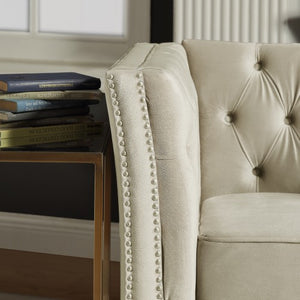 Hyrohomestore Thick Back Tufted Classical Loveseat Sofa