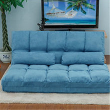 Load image into Gallery viewer, Gyrohomestore Two Pillows Double Chaise Lounge Sofa Chair Floor Couch