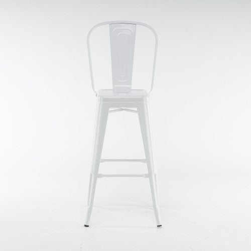 Gyrohomestore White High Upholstered Dining Chairs
