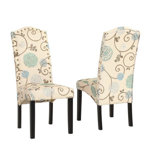 Gyrohomestore Contemporary Dining Chairs with Sturdy Wood Legs