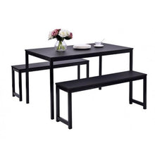 Load image into Gallery viewer, Gyrohomestore Wood Residential Use Dining Table with Bench