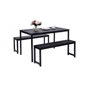 Gyrohomestore Wood Residential Use Dining Table with Bench
