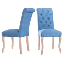 Load image into Gallery viewer, Gyrohomestore Wood Log Fabric Chair Dining Room Chairs for Sale