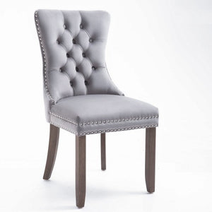 Gyrohomestore High-end Tufted Solid Wood Upholstered Dining Chair