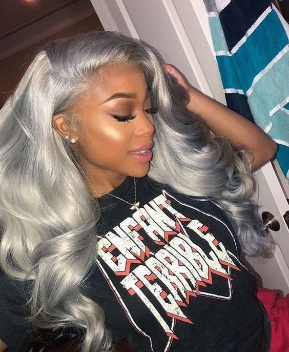 Brazilian Hair I Lace Frontal Wigs Human Hair I Grey Bundles I MyHairGlory