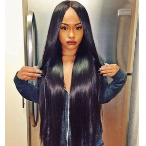 Brazilian Hair I Lace Frontal Wigs Human Hair I Straight Bundles I MyHairGlory