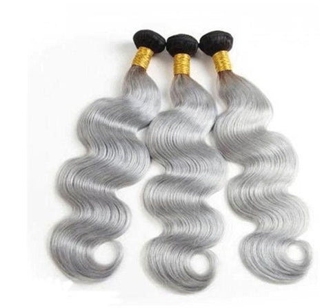 1B/Grey Brazilian Body Wave I 3 Bundles - MyHairGlory