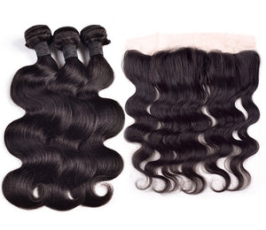 Brazilian Body Wave Hair I  3-bdle+ Frontal - MyHairGlory