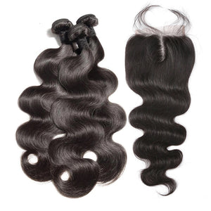 Brazilian Body Wave I 3bdl + (6x6) Lace Closure - MyHairGlory