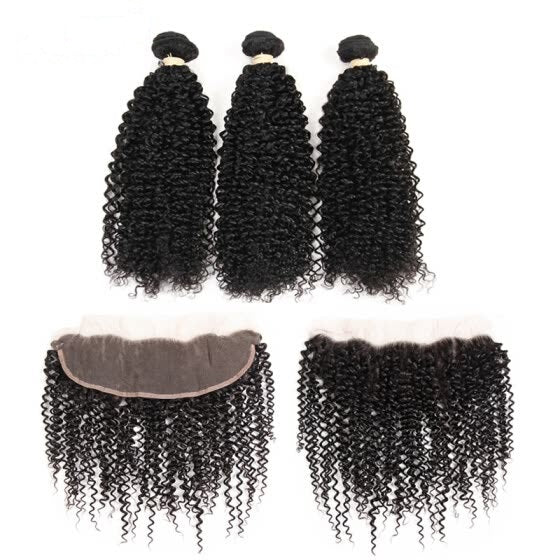 Brazilian Kinky Curly I 3bdl + Lace Frontal - MyHairGlory