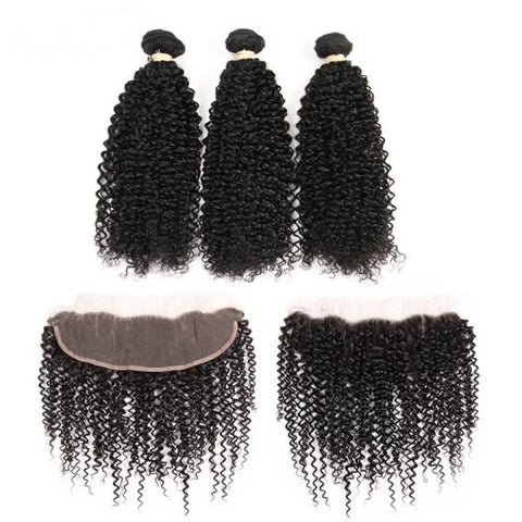Indian Kinky Curly I 3 bdl + Lace Front - MyHairGlory