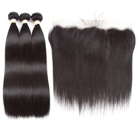 Indian Straight Hair I 3bdl + Lace Front - MyHairGlory