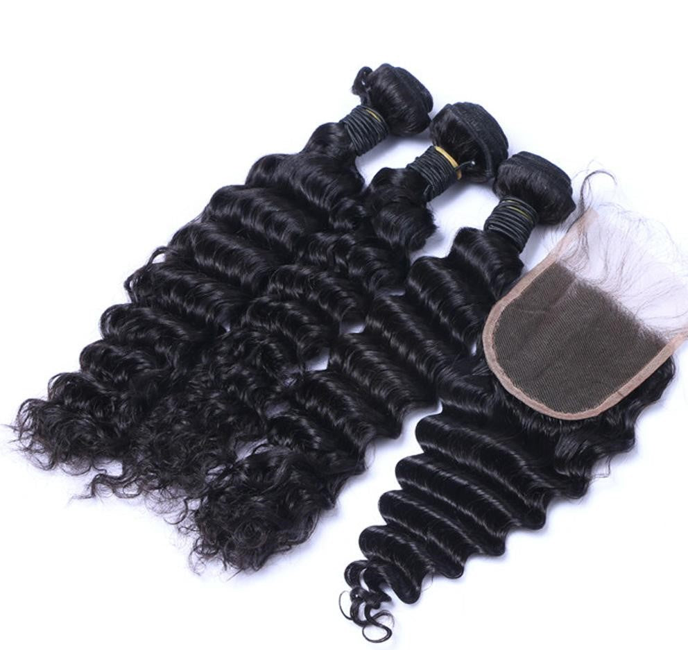 Indian Deep Wave I 3bdl + (6x6) Closure - MyHairGlory