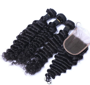 Brazilian Deep Wave I 3bdl + (6x6) Closure - MyHairGlory