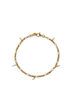 Load image into Gallery viewer, Armbanden - Figaro small pearl - Gold plated
