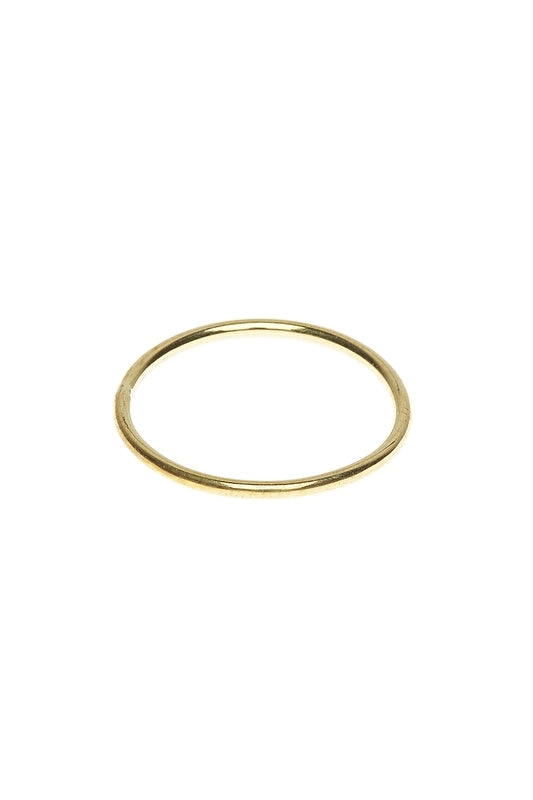 Ring plain brass