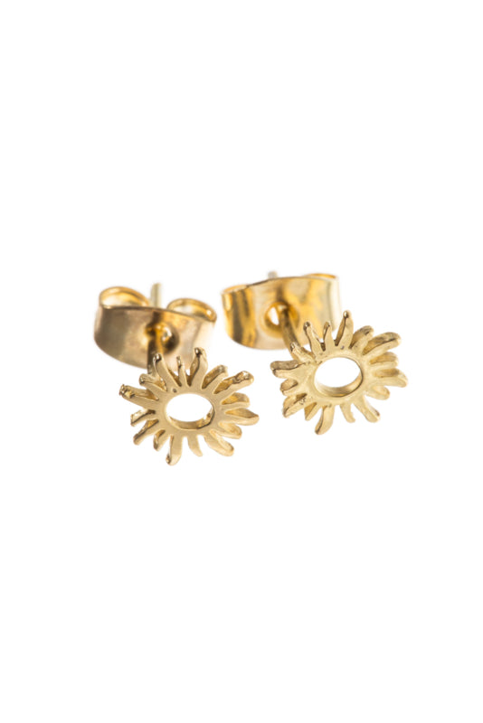 Earring Sun gold-plated