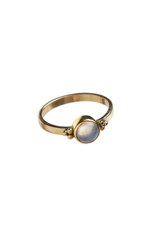 Ring - Etiopian opal dots - Brass