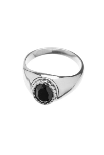 Xzota de ring big onyx oval