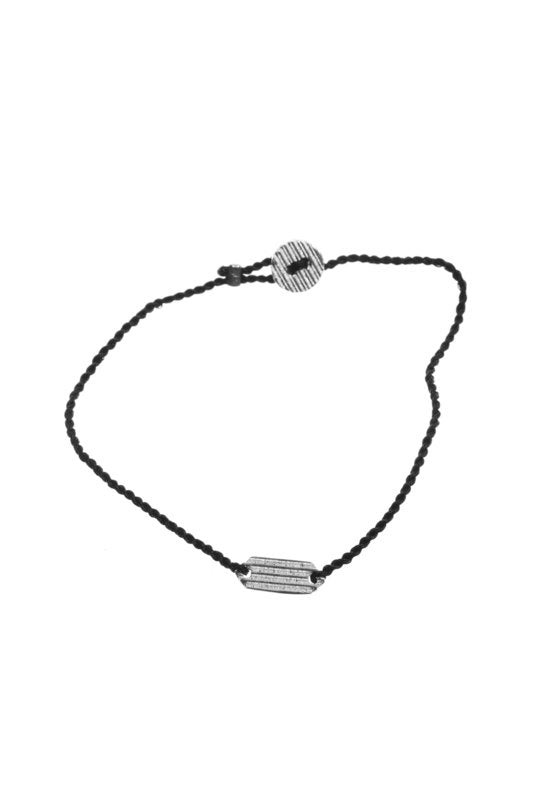 De charm rectangle bracelet silver plated xzota
