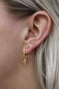 Oorbellen - Tiny moon - Gold plated