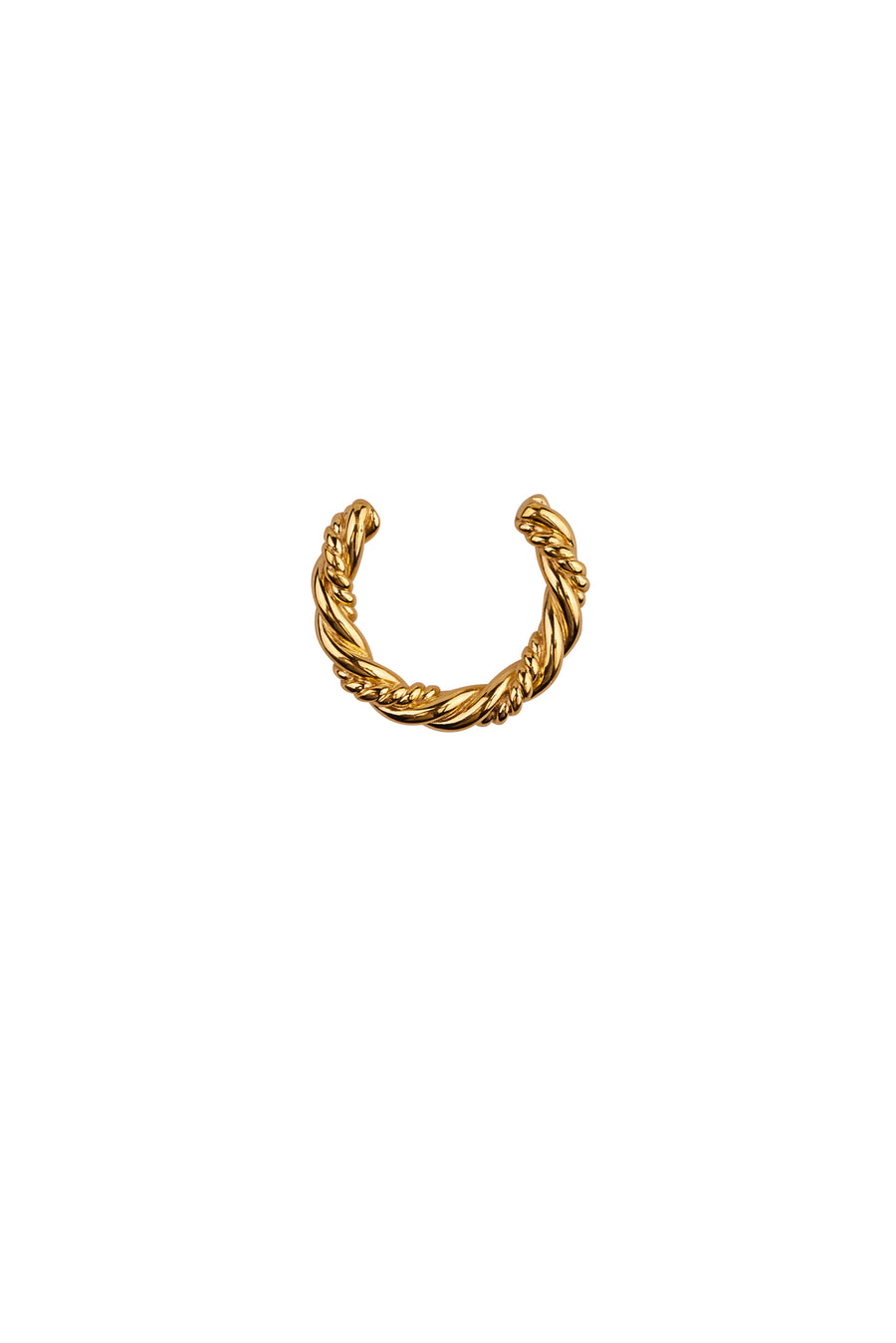 Xzota | Oorbellen | Twisted cuff | Gold Plated