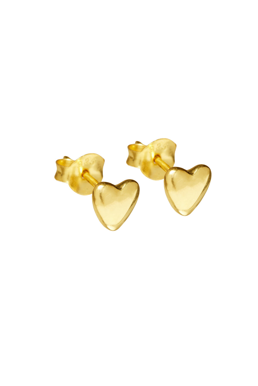 Oorbellen -  small heart - Gold plated