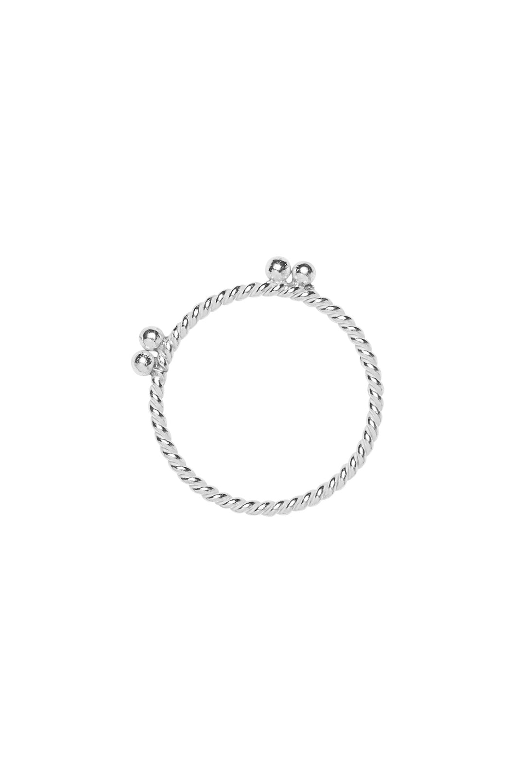 Ringen - Twisted double dots - Silver