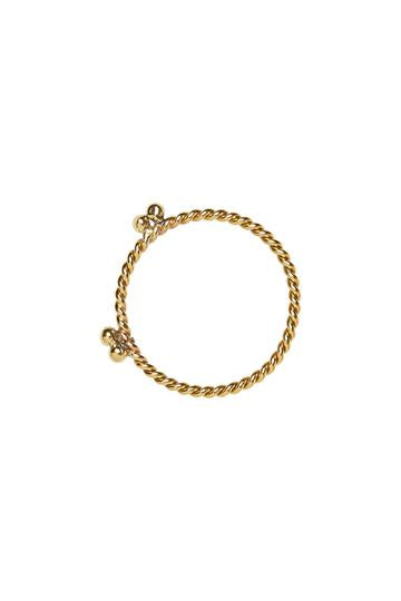 Ringen - Twisted double dots - Brass