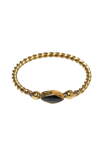Ringen - Twisted eyeshape - Brass