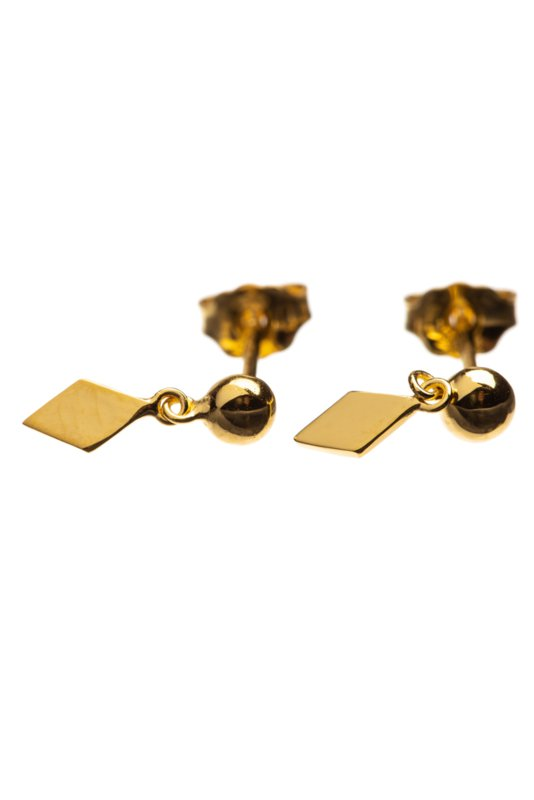 Hanging kite oorbellen Gold-plated Xzota
