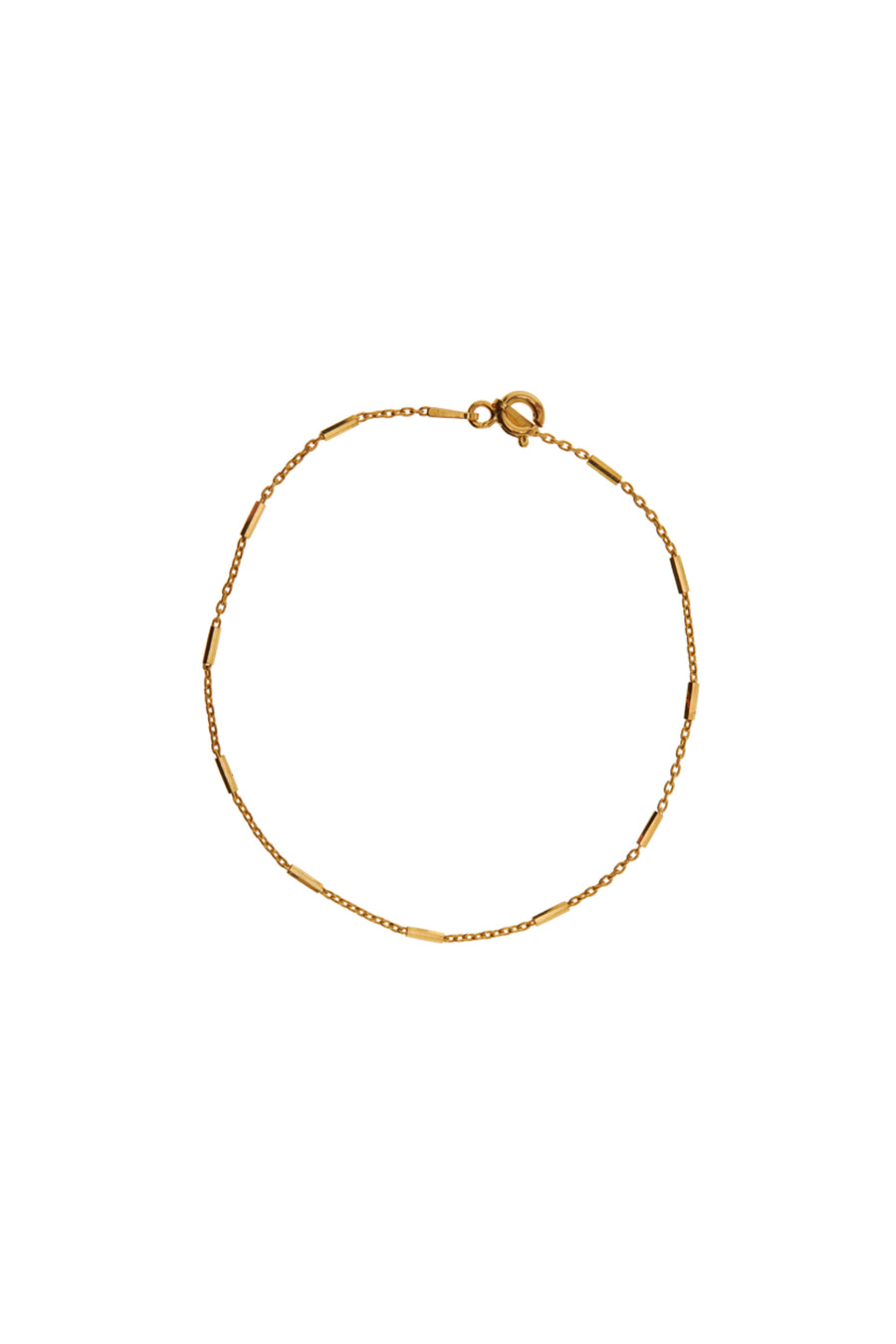 Enkelbandjes - Chain bar - Gold plated