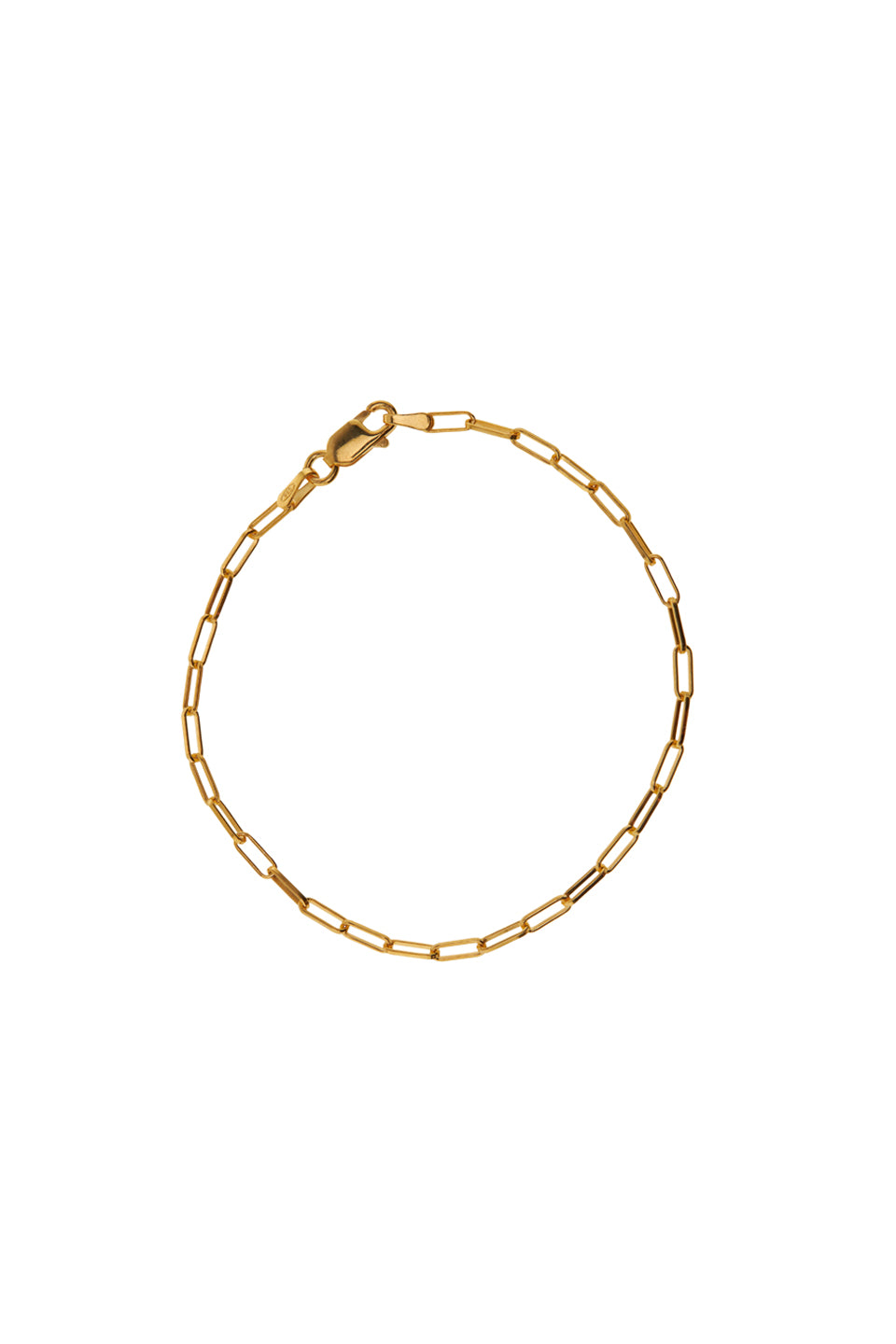 Enkelbandjes - Chain square - Gold plated