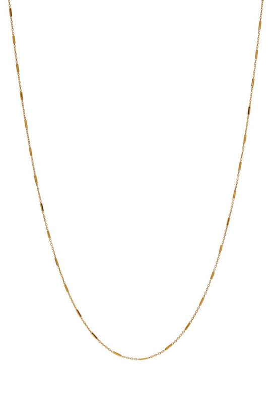 Kettingen - String chain bar 25cm- Gold plated