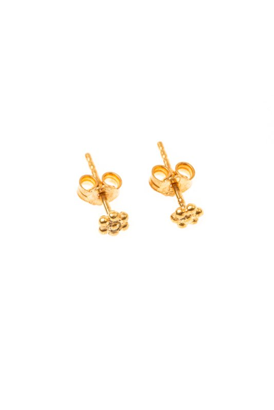 Small Flower stud earring gold-plated