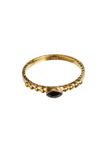 Load image into Gallery viewer, Eyeshape onyx dots 14K gold xzota
