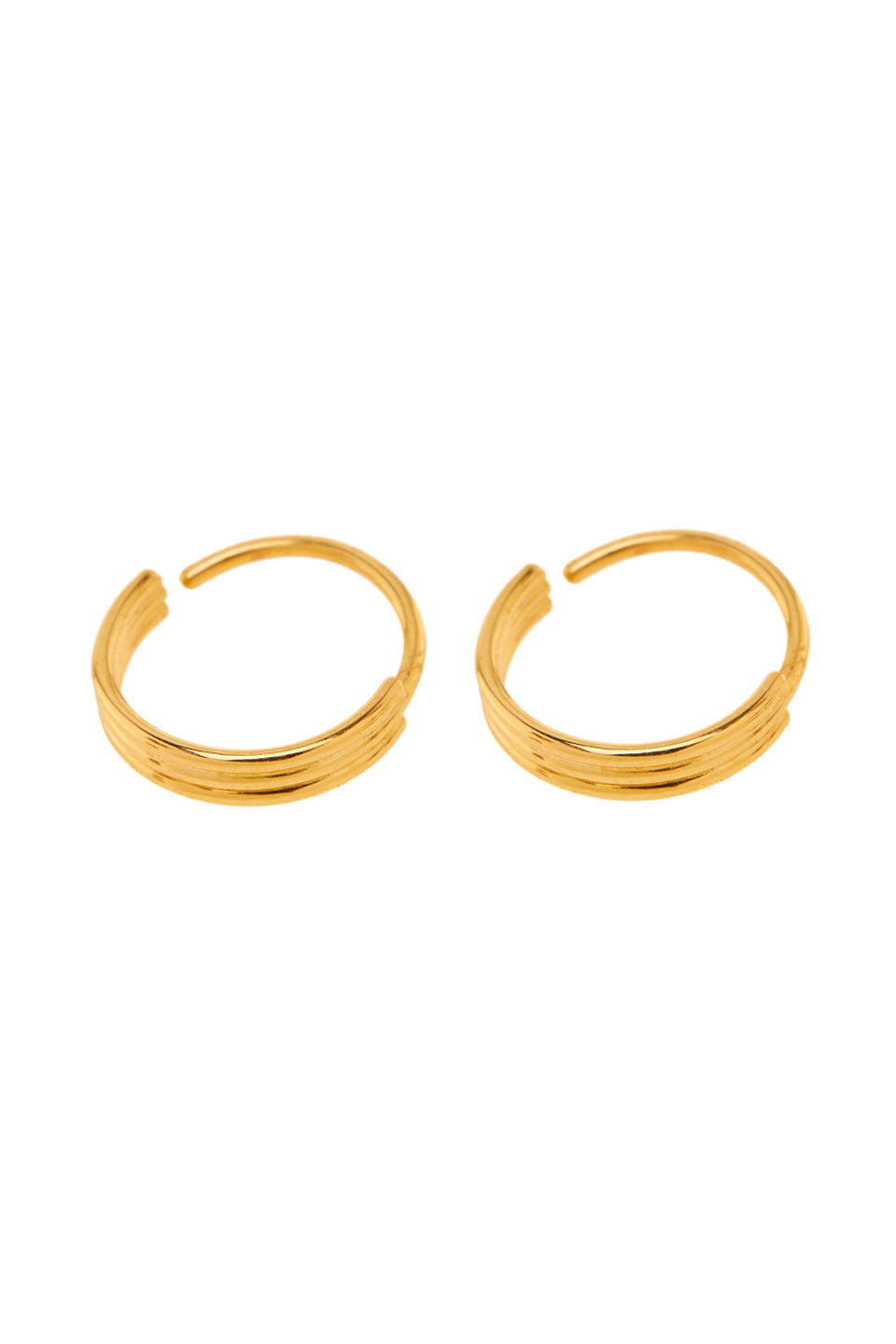 Oorbellen - Small stripe hoop - Gold plated