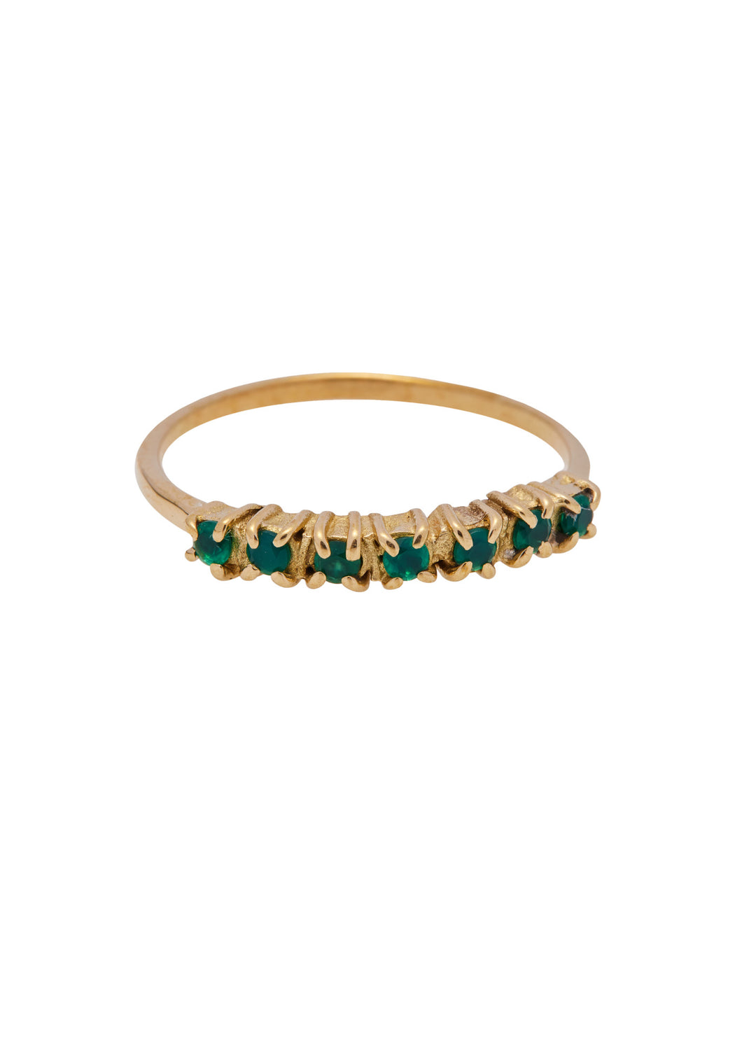 Ringen - Vintage multi green zircon - Brass