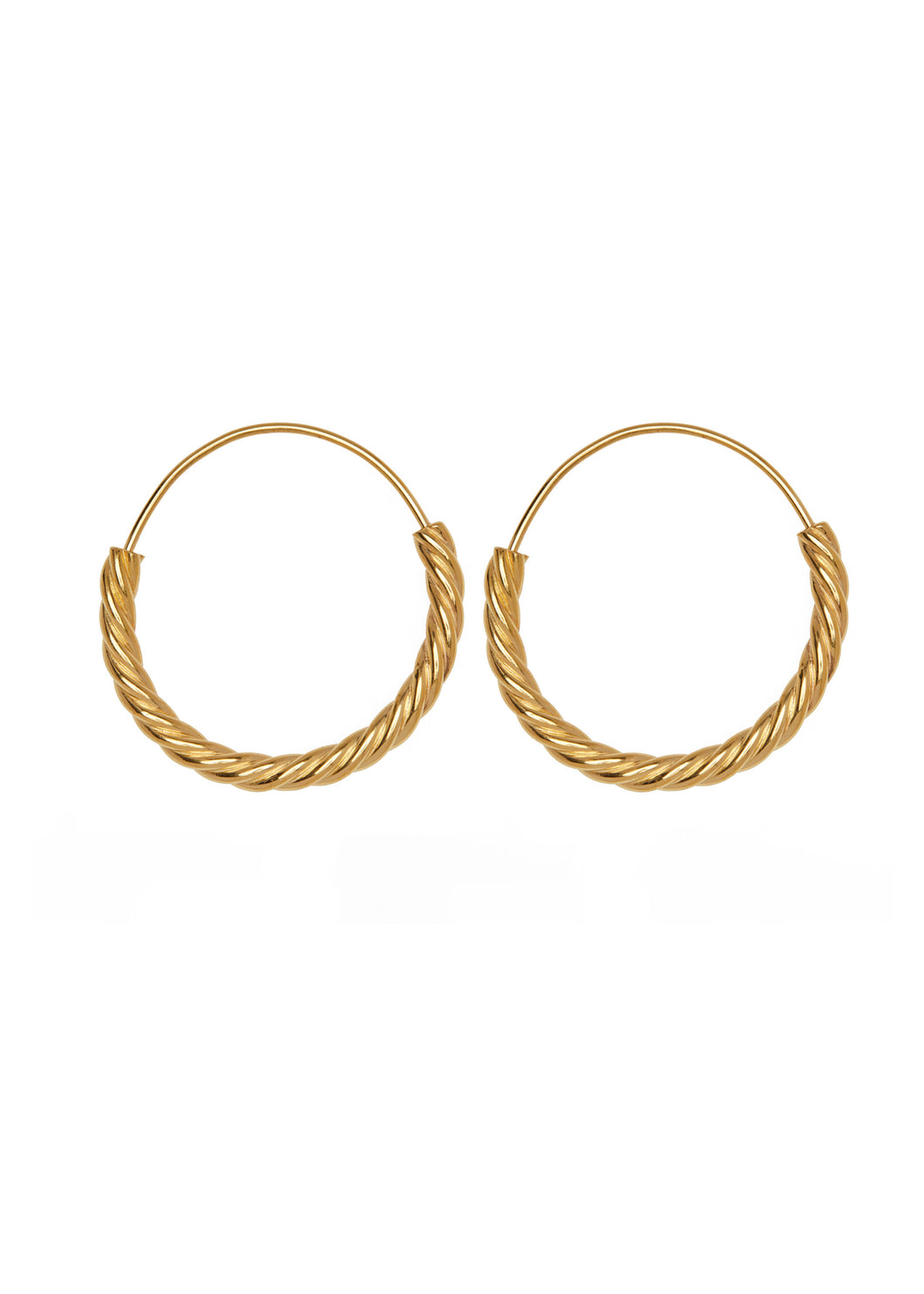 Oorbellen - Twisted hoop - Gold plated