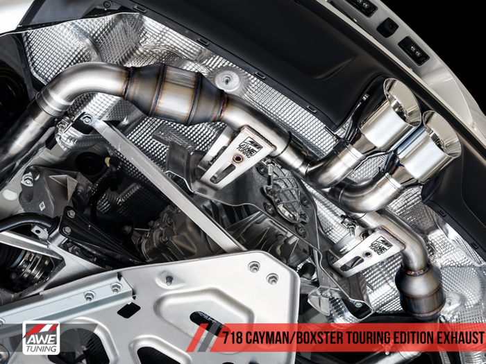 AWE Tuning Porsche 718 Boxster / Cayman Touring Edition Exhaust - Diamond Black Tips - Euromotive