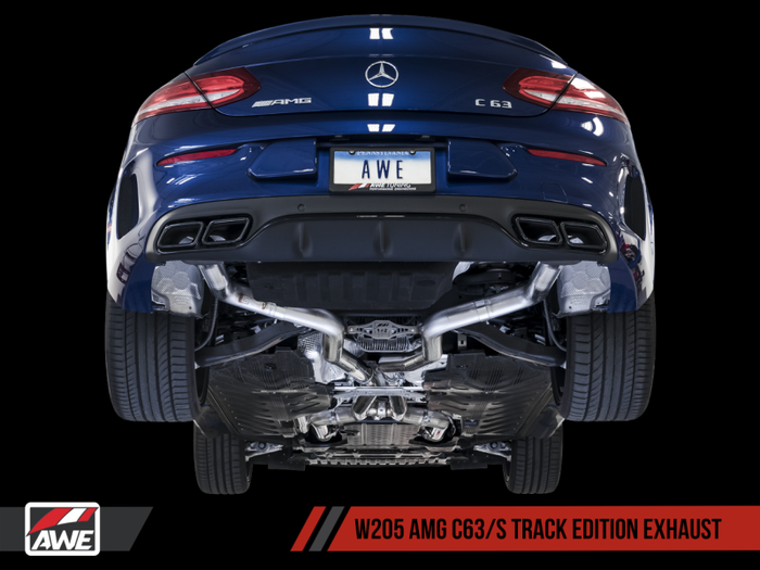 AWE Tuning Mercedes-Benz W205 AMG C63/S Coupe Track Edition Exhaust System (no tips) - Euromotive