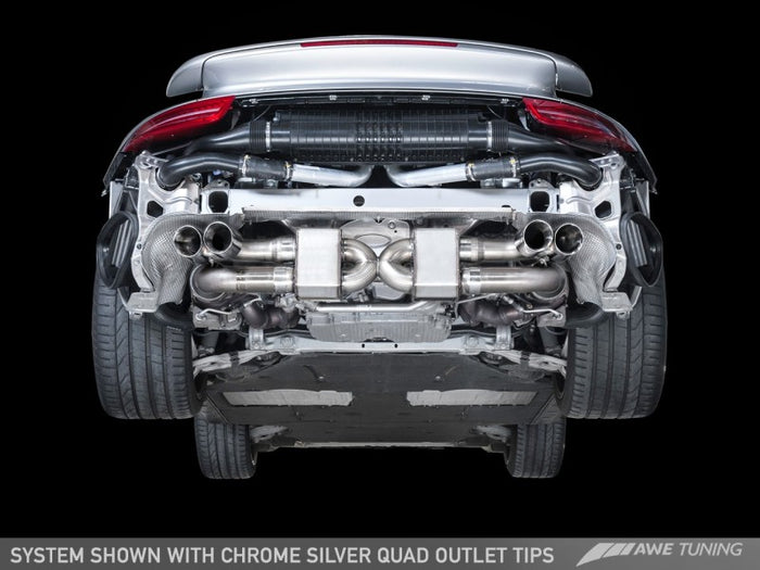 AWE Tuning Porsche 991.1 Turbo Performance Exhaust and High-Flow Cats - For OE Tips - Euromotive