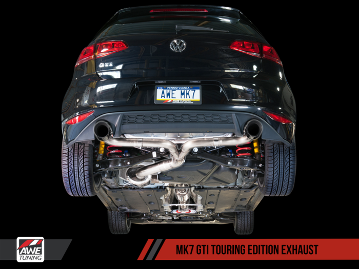 AWE Tuning VW MK7 GTI Track Edition Exhaust - Diamond Black Tips - Euromotive