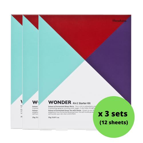 Clearance: Haruharu WONDER Sheet Mask Value Kit (25g x 4EA x 3 sets)