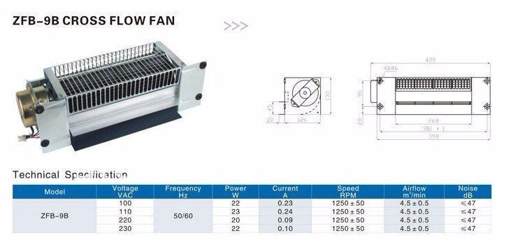Elevator ventilation fan - Elevators spare parts