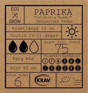 PAPRIKA -CALIFONIA WONDER