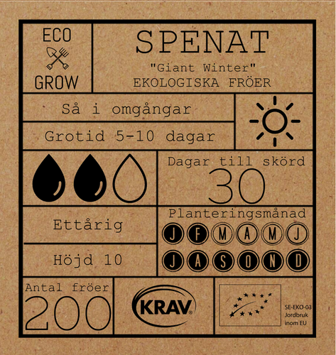 SPENAT -GIANT WINTER