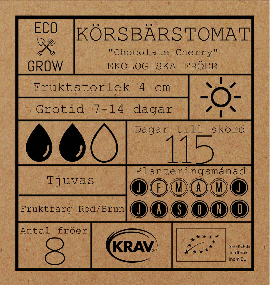 KÖRSBÄRSTOMAT - CHOCOLATE CHERRY