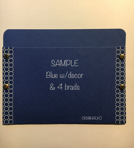 pocket envelope, dark blue, gift card envelope